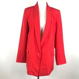 Laundry Shelli Segal Red Plus Size Blazer Pockets